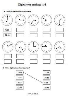 Domein: Meten. Onderdeel: Tijd Doel: digitale en analoge tijden aflezen