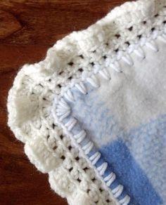 Tons of crochet edges for fleece blankets