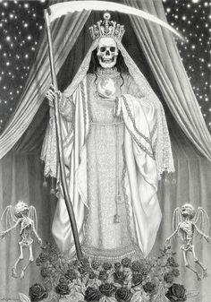13 Skull Drawings by Laurie Lipton