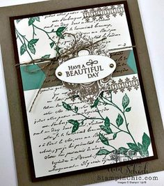Ann CASES an elegant any occasion card using the Very Versailles set from Stampin' Up! Paris Cards, Make Your Own Card, Masculine Birthday Cards, Beautiful Handmade Cards, Stamping Up Cards, Cards For Friends, Sympathy Cards, Creative Cards, Flower Cards