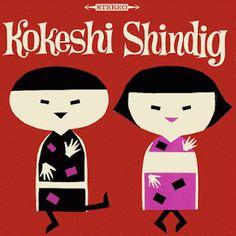 Kokeshi Shindig - vintage album cover –Sounds of #Hawaii LP, #1965