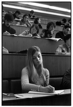 Henri Cartier-Bresson // SOVIET UNION. Russia. 1972 - Moscow. University. Students attend philology class.