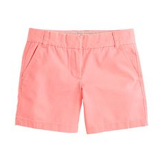 J. Crew shorts are the BEST! I seem to really love this neon peach color.