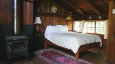 Earthy, artistic, simplicity away from the world and tucked into the Redwoods.  Historic room at the Deetjens Inn, Big Sur, CA