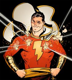 I really wish we get to see more Shazam soon. It's been a loooong while since we've seen him make an appearance in a comic. Captain Marvel Shazam, Shazam Comic, Original Captain Marvel, Marvel Dc Comics, Dc Comics Art, Marvel Art, Comics Girls, Alex Ross, Dan Mora