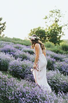 Michael + Gen | Lavender Field Engagement Love the idea of this!
