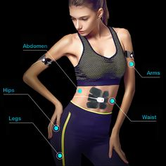 Smart APP EMS Stimulator Trainer Massage Pain Relief Abs Body Shape Muscle Fitness Equipment Fitness Equipment, No Equipment Workout, Wellness Fitness, Muscle Fitness, Water Sports, Body Shapes, Pain Relief, Ems, Trainers