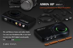 The #AIMON HP HMA-1 #Mixer/Amplifier is a head phone souround amp / USB #soundcard for gamers (#usbsoundcard)! Offers crystal clear HiFi sound and a sound channel mixer.  #AIMONHP is the best choice when every moment is critical and the communication is the key vital factor that decides winning and losing. If you play fast paced tactical team based games online, the AIMON HP gives you a real edge over your competition.