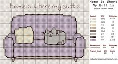 [[FREE Pattern]] Home is Where My Butt is by ~cathartic-dream on deviantART