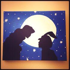 Jasmine and Aladdin Silhouette