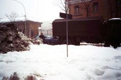 """La Grande Nevicata in Via Spalto San Marco"" - 1985 Grande, Outdoor, Vintage, Truck, Outdoors, Outdoor Games, Vintage Comics, The Great Outdoors"
