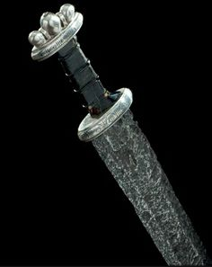 A fine and probably unique silver-hilted Viking sword, second half of the tenth century. (PF)