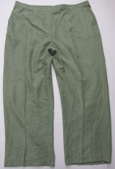 cfd1ed483c0 Alfred Dunner Plus Size 22w Celery Short Stretch Knit Green Pants