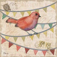 Fancy Flock III Art Print