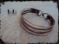 Bracelet with copper wire - Βραχιόλι με σύρμα χαλκού - https://www.facebook.com/IoLiHandmadeCreations