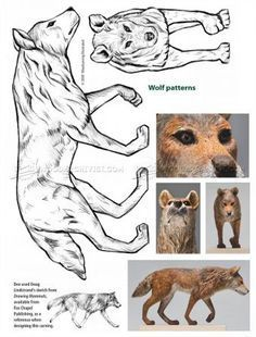 #941 Wolf Carving - Wood Carving Patterns - Wood Carving Patterns and Techniques