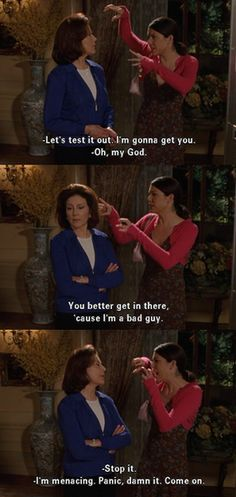 This is seriously going to be me and my mom when we get older....wait it already is haha :D she doesn't think im funny either