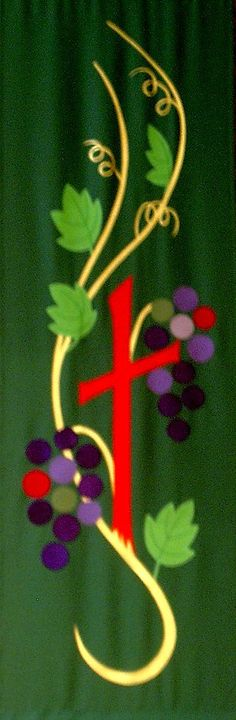 We design and make liturgical banners for outdoor or indoor use, for processions or stationery use.  They are creative and contemporary and enhance worship.