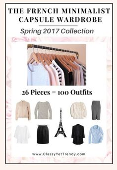 The French Minimalist Capsule Wardrobe Spring 2017  https://transactions.sendowl.com/stores/6676/29996