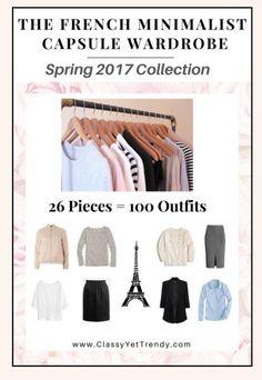 The French Minimalist Capsule Wardrobe Spring 2017  https://transactions.sendowl.com/stores/6676/29996