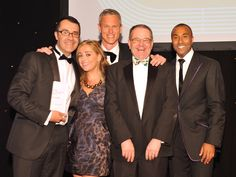 Winners at the 2012 CIPR Excellence Awards dinner at London Hilton on Park Lane.