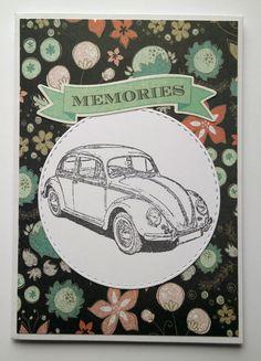 Kupla auto kortti vintage