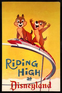 Vintage Disneyland postcard featuring Chip and Dale. Disney Pixar, Walt Disney, Disney Theme, Disney Love, Disney Magic, Disney Parks, Disney Trips, Vintage Disney Posters, Vintage Disneyland
