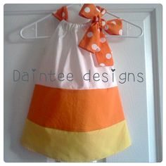 Candy Corn Dress by dainteedesigns on Etsy