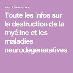 Toute les infos sur la destruction de la myéline et les maladies neurodegeneratives