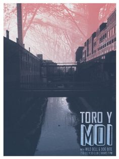 Toro y Moi gig poster by Meg Vázquez