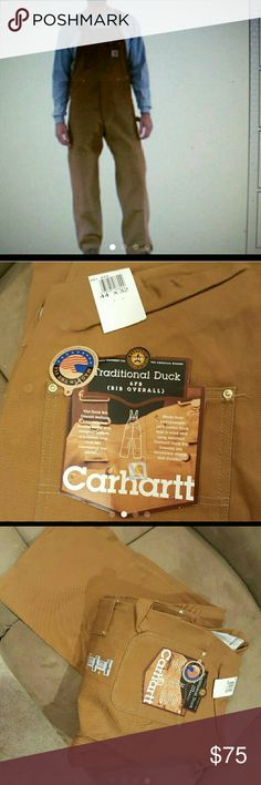 Carrharrt men's work overalls 44x32 Brand new with tags R01..tough and durable..double knee..unlined..wind resistant..tool pockets ..hammer loop 100% cotton duck carrharrt  Other