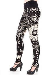 Clothing - Astrological Zodiac Leggings by 5ifth Degree Clothing Clothing
