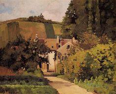 Village Church, 1868 by Camille Pissarro. Realism. landscape