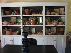 nature (table) curio/bookshelves