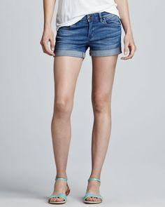 Blank Cuffed Denim Shorts - Neiman Marcus