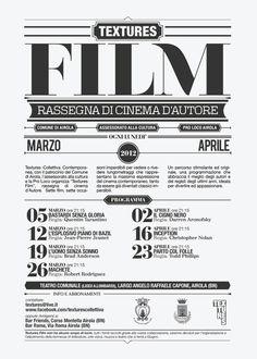 Textures Film by Giuseppe Fierro, via Behance