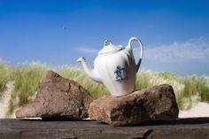 Ceramic teapot blue delft Keramische theepot kinderspelen decor