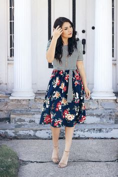 49 Ideas for womens fashion spring dresses blouses Modest Dresses Casual, Modest Bridesmaid Dresses, Modest Outfits, Skirt Outfits, Modest Fashion, Cool Outfits, Fashion Outfits, Womens Fashion, Skirt Fashion