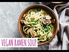 Vegan Ramen Soup w/ Zucchini Noodles - perfect for a delicious and healthy dinner! Also a great detox soup. Tasty and gluten-free!