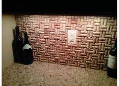 cork back splash kitchen granite idea