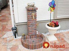 Garden Deco, Garden Art, Backyard Projects, Outdoor Projects, Garden Sink, Water Garden, Front Garden Landscape, Backyard Water Feature, Brick Design