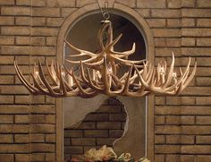 This chandelier would be a great piece for any space in a cabin or home. It is made out of faux lightweight antlers and comes with everything you will need to install it. We love our Appalachian chandelier! Antler Lights, Antler Chandelier, Chandelier Pendant Lights, Rustic Lighting, Shop Lighting, Lighting Design, Lighting Ideas, Camo, Antler Crafts