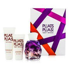 Pleats Please Coffret:   1x Eau De Parfum Spray 100ml/3.3oz   1x Body Lotion 75ml/2.5oz   1x Shower Gel 50ml/1.6oz  Ideal both for personal use & as a gift