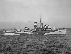 British Forces: HMS AZALEA, a Flower class corvette built in 1940. The Flower class were the first type of mass produced escort vessels. Royal Navy official photographer © IWM (FL 1300)