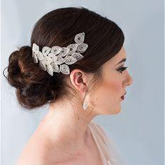 Bridal Hair Comb, Wedding Hair Comb, Peacock Hair Comb, Peacock Tail, Hair Comb, Seed Bead Hair Comb, Crystal hair comb - Maya by GloriousTiaras on Etsy https://www.etsy.com/uk/listing/492492928/bridal-hair-comb-wedding-hair-comb