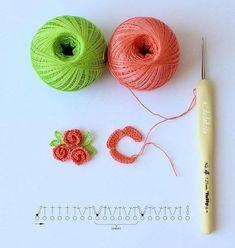 Crochet brooch in butterfly shape tutorial instructions – ArtofitThis miniature crochet puff flower is perfect for your bridesmaid gift. Art Au Crochet, Crochet Puff Flower, Crochet Flower Tutorial, Crochet Leaves, Crochet Motifs, Crochet Flower Patterns, Crochet Diagram, Thread Crochet, Irish Crochet