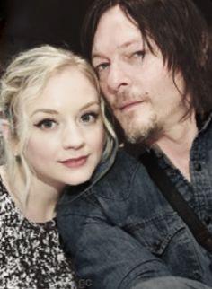 Norman Reedus Emily Kinney The Walking Dead Daryl Dixon Beth Greene #gc Bethyl Normily