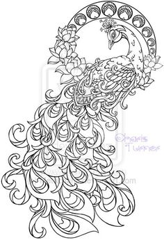 Art Nouveau Peacock Tattoo by Metacharis.deviantart.com on @deviantART