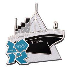 Pin Badges, Titanic, Lapel Pins, Olympics, London, London England, Badges