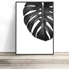 Monstera Art | Contemporary Black and White Print | Tropical Home | Monstera Poster | Tropical Wall Art | Coastal Art | Tropical Art Print | Jungalow Decor | Coastal Chic | Artwork by Little Ink Empire